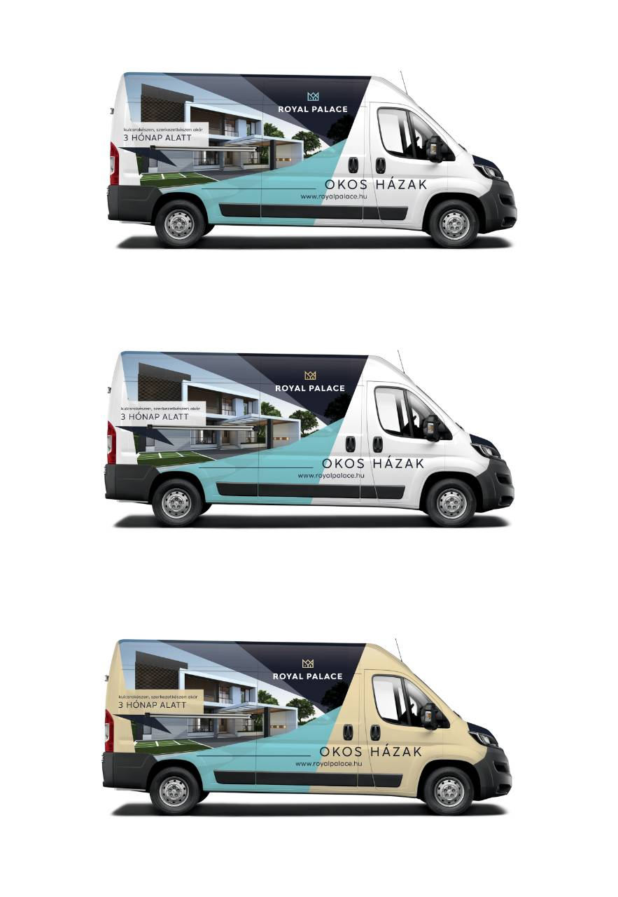 RPOH könnyűszerkezetes ház reklám autó