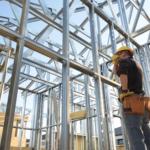 acélváz pillér szerkezetes ház